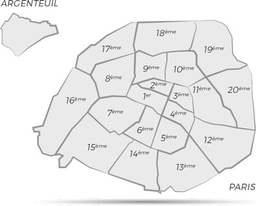 Localisation des établissements